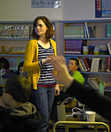 Filmmakers speak at Orion Elementary School 130501-F-WV722-048.jpg