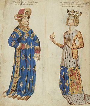 Robert, Count of Clermont - Robert and his wife Beatrice
