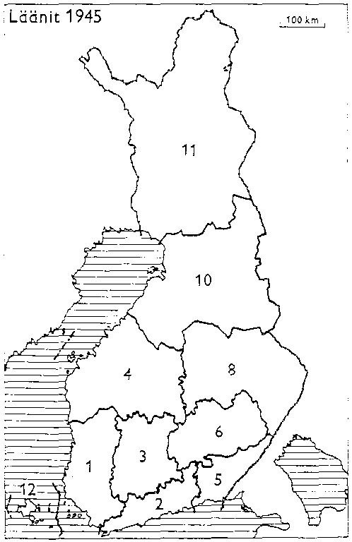 Finnish counties 1945