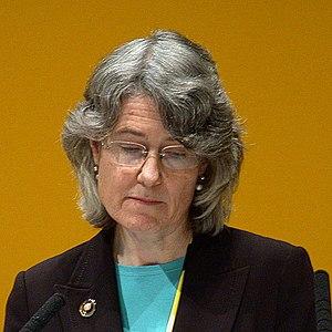 Fiona Hall MEP addressing a Liberal Democrat c...