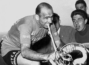Fiorenzo Magni - Magni at the 1956 Giro d'Italia