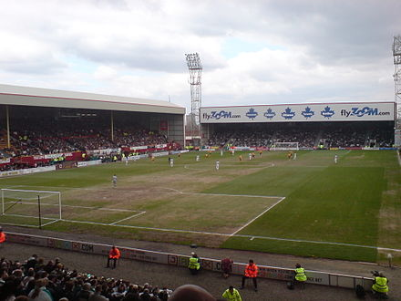 Fir Park in April 2008, when the pitch was in a bad condition. FirPark230408.jpeg