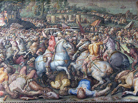 Trecento wikip dia for Battle of marciano mural