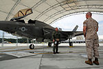 First F-35B Lightning II arrives at MCAS Beaufort 140717-M-UU619-924.jpg