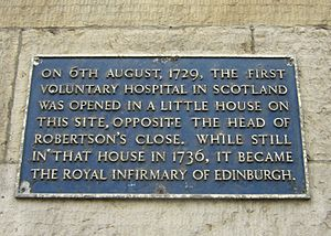 University of Edinburgh Medical School - Plaque on the site of the first Royal Infirmary