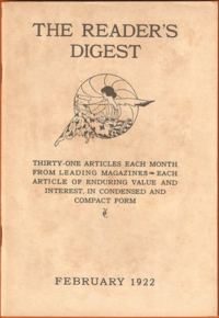 First issue of the Reader's Digest, February 1922.png