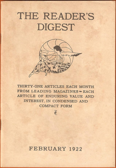 First issue of the Reader%27s Digest, February 1922