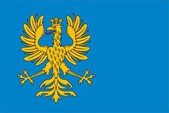 Cieszyn Silesia - Image: Flaga Księstwa Cieszyńskiego