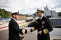 Flickr - Official U.S. Navy Imagery - The CNO shakes hands with a Royal Norwegian navy officer during a tour of the Skjold-class coastal corvette HNoMS Skudd..jpg