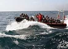 Flickr - Official U.S. Navy Imagery - U.S. Marines make their approach to a Thai fishing vessel in a U.S. Coast Guard short range prosecutor during a visit, board, search and seizure exercise with the Royal Thai Navy..jpg