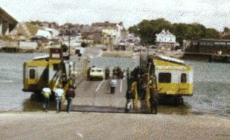 Woolston Floating Bridge - The Woolston Floating Bridge embarking passengers on the Southampton side of the River Itchen on its last day of service (11 June 1977)