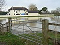 Flooding at Westhay Bridge - geograph.org.uk - 664682.jpg