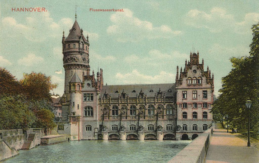 datei flusswasserkunst hannover historisch postkarte leine wikipedia. Black Bedroom Furniture Sets. Home Design Ideas