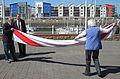 Folding the Jersey flag 2011 1.jpg
