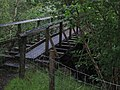 Footbridge using remains of old narrow-gauge railway bridge over Allt a'Mhuilinn - geograph.org.uk - 905644.jpg