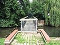 Footbridge with blocked access across the River Chet - geograph.org.uk - 1418864.jpg