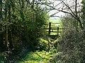 Footpath and stile, No Parish Farm - geograph.org.uk - 1234427.jpg