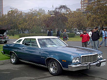 1974 ford gran torino brougham with new for 1974 opera windows and aftermarket wheels - Ford Gran Torino Fastback