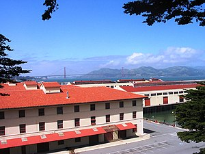Fort Mason - Historic wharves at Lower Fort Mason, viewed from Upper Fort Mason