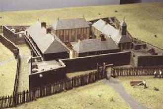 Fort Charlotte, Mobile - A model of Fort Louis de la Mobille.