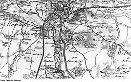 Grossenhain-Mülbitz map Oberreit 1841–43