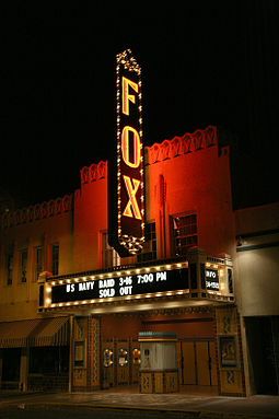 The recently restored Fox Theatre is in downtown Tucson. Fox theater Tucson.jpg