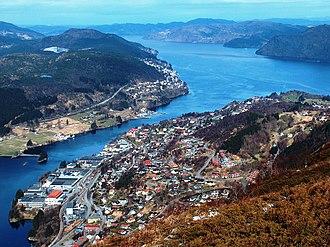 Arna, Norway - View of the Arnavågen bay