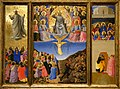 Fra Angelico, The Ascension of Christ, The Last Judgment, Pentecost (Corsini Triptych), 1447-48 5 10 18 -gardnermuseum -earlyrenaissance -italy -painting (41305696504).jpg