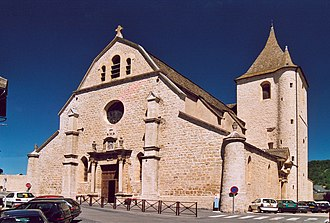 Lozère - Image: France Lozere Marvejols Eglise Notre Dame de la Carce