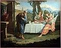 Francesco fontebasso, abramo e i tre angeli, 1759, da madonna del carmelo a calvino, già nel castello di trento.jpg