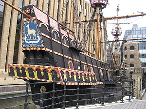 Golden Hind - Image: Francis drake galleon southwark london uk
