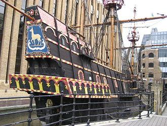 Golden Hind - Image: Francis drake galleon southwark london uk