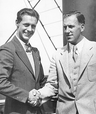 Frank Kurtz - Kurtz (left) and Swendsen in 1931