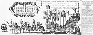 Jacob Franquart - The 1621 funeral procession of Albrecht. Engraving by  Jacob Franquart (1623)