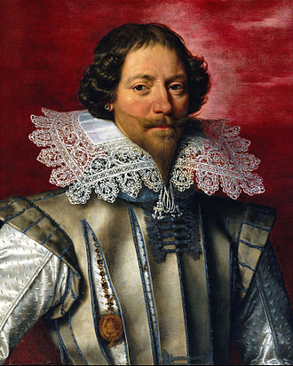 Frans Pourbus the Younger - Portrait of a man. Pourbus is noted for his depiction of costume, jewellery and draperies.