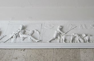 Frederiksholms Kanal 16–18 - A section of Thorvaldsen's Alexander frieze from the gateway in No. 17