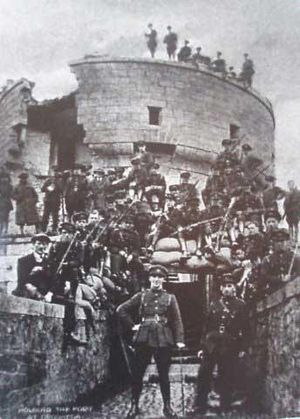 Millmount Fort - Irish Free State Forces after the shelling of Millmount in 1922