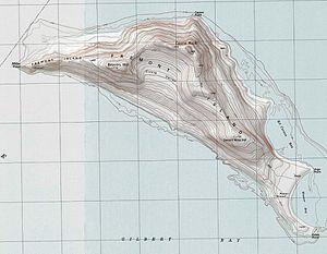 Fremont Island - Image: Fremont island topo map