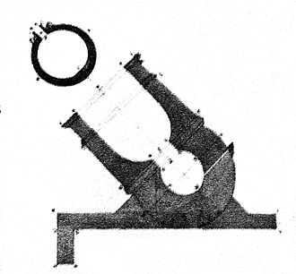 Mortar (weapon) - French mortar diagram from the 18th century.