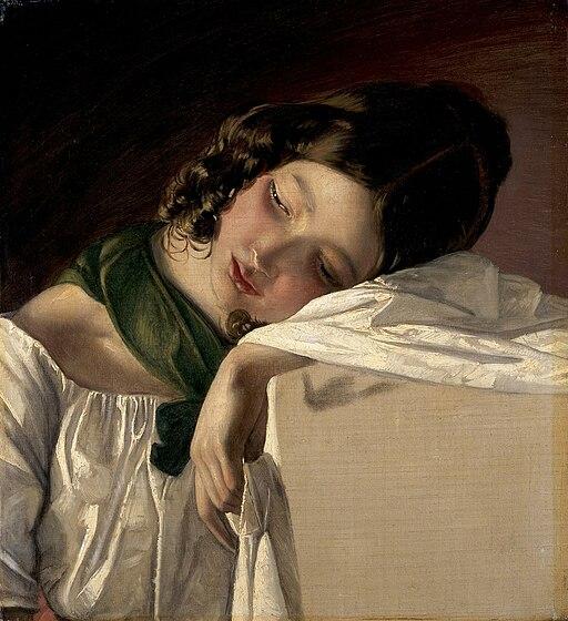 Friedrich von Amerling, 1834 - Jeune fille assoupie