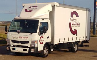 Mitsubishi Fuso Truck and Bus Corporation - Fuso Canter 3C13, 8th Generation in Dueñas, Spain.