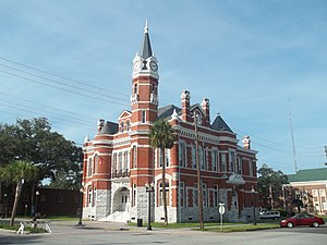 National Register of Historic Places listings in Glynn County, Georgia - Image: GA Brunswick Old Town HD city hall 01