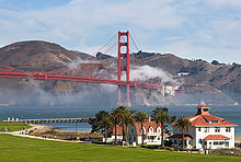 The Old Coast Guard Station And Golden Gate Bridge