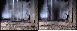 Explosive exfoliation of graphite oxide by hea...