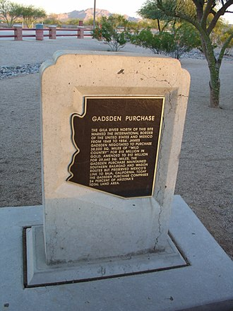 Gadsden Purchase - The Gadsden Purchase historical marker near Interstate 10