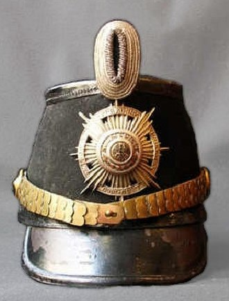 Guards Rifles Battalion - Shako as used since 1854