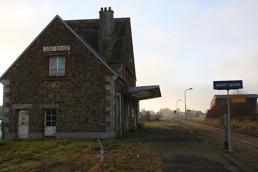 Gare ferroviaire de saint-sever - Calvados - France