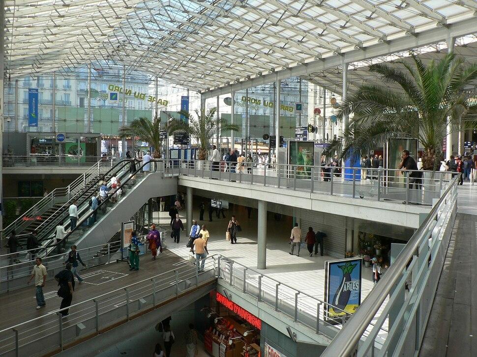 Gare du Nord Paris vue interieure coté banlieue
