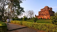 Gargaon Kareng Ghar or Gargaon Palace, of the Ahom Kingdom.jpg