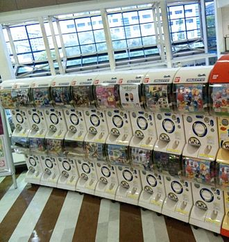 Gashapon - Row of gashapon machines in Japan.